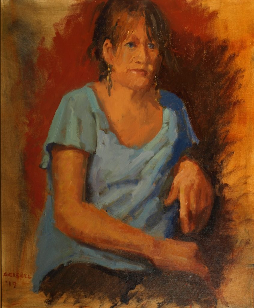 Painting Demo of Lisa, Oil on Canvas, 24 x 20 Inches, by Susan Grisell, $750