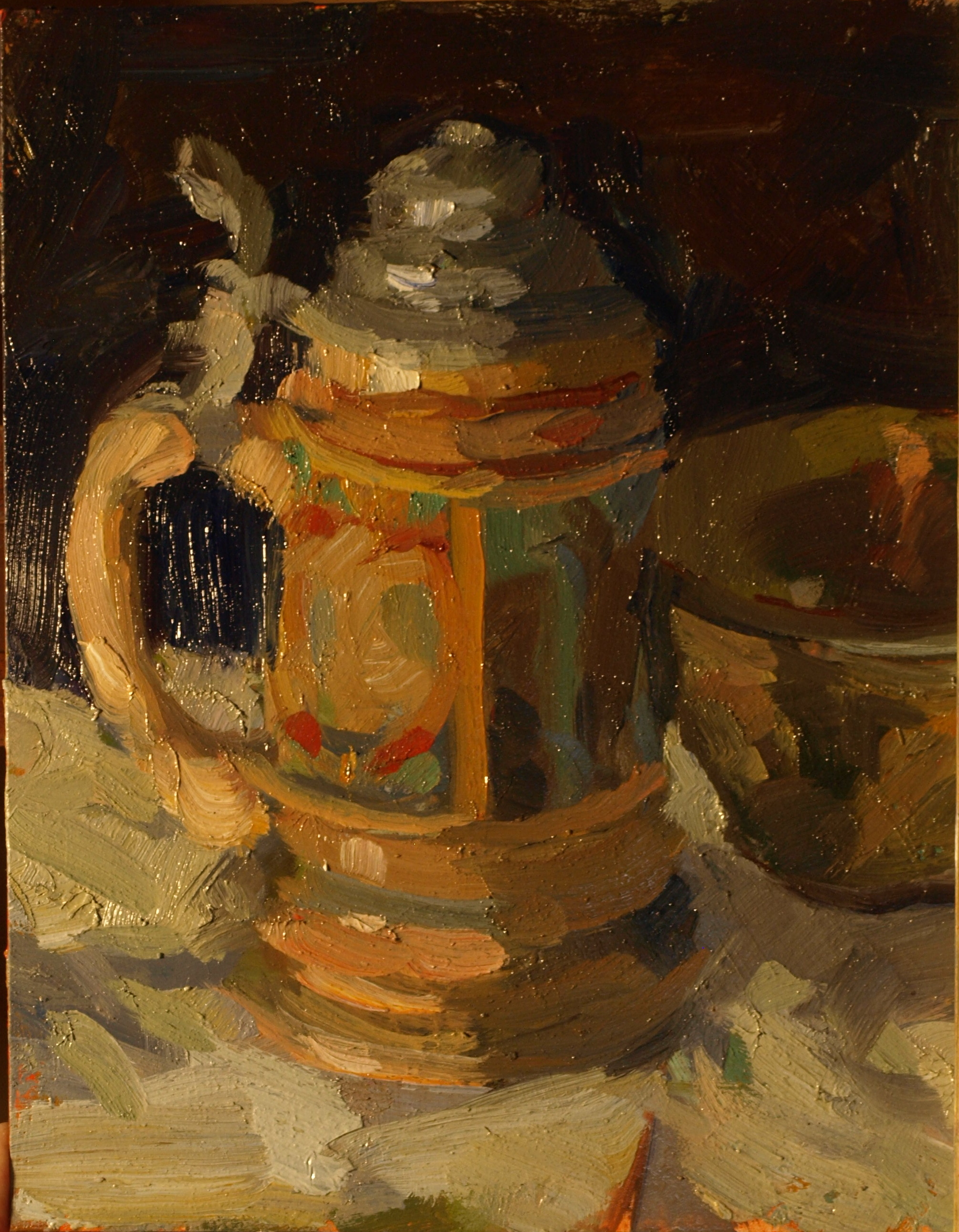 Stein, Oil on Panel, 10 x 8 Inches, by Susan Grisell, $200