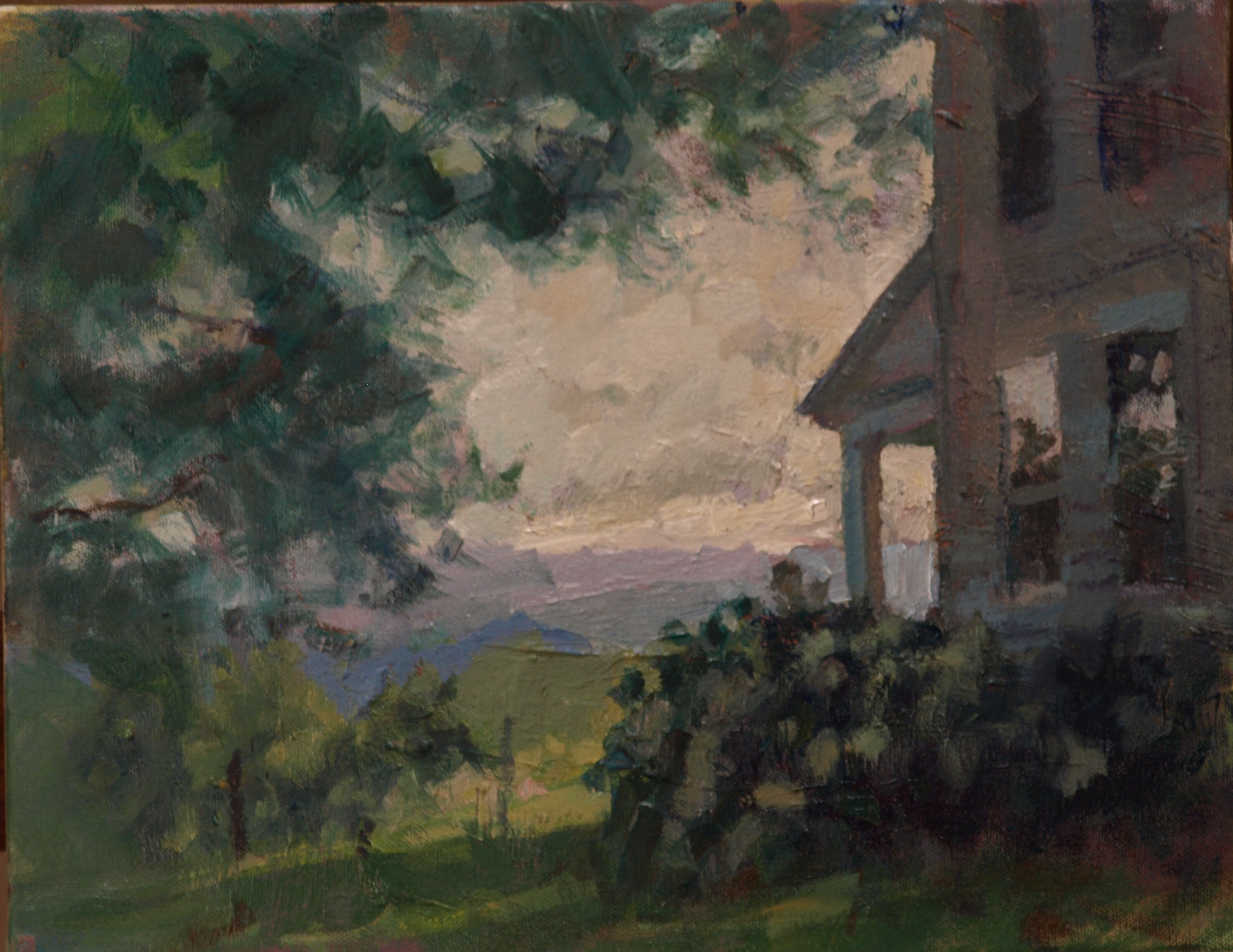 Phil's House, Oil on Canvas, 11 x 14 Inches, by Susan Grisell, $300