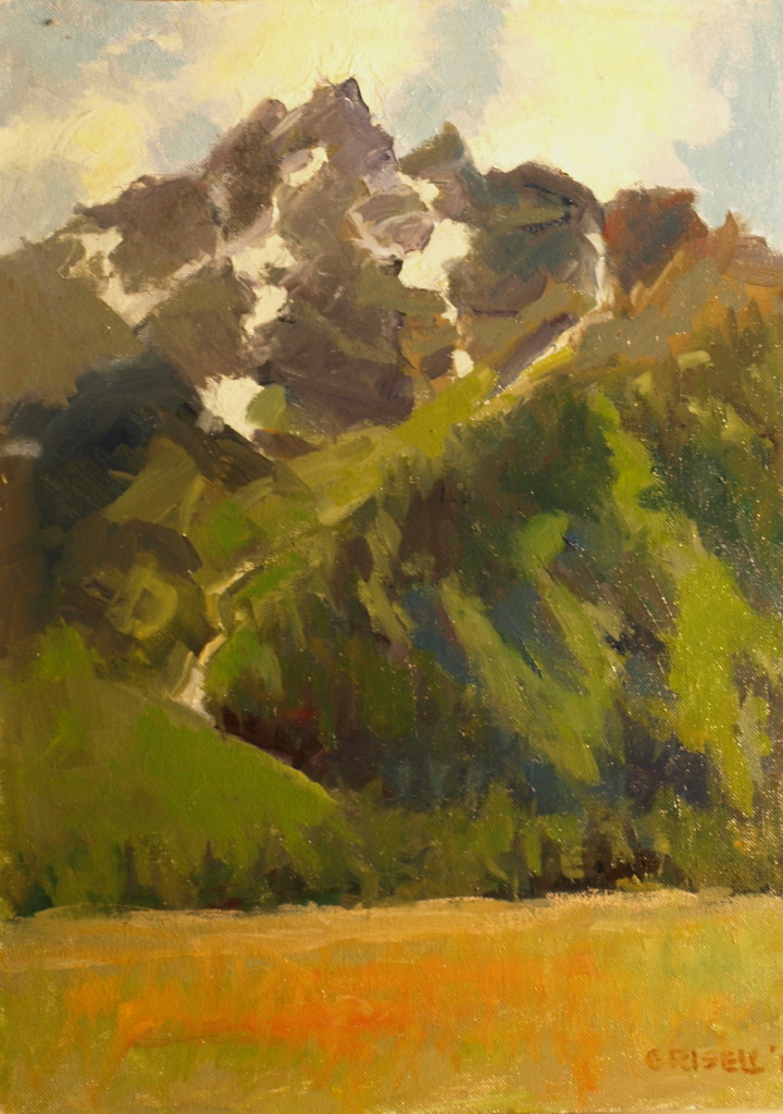Glaciers, Oil on Canvas on Panel, 16 x 12 Inches, by Susan Grisell, $300