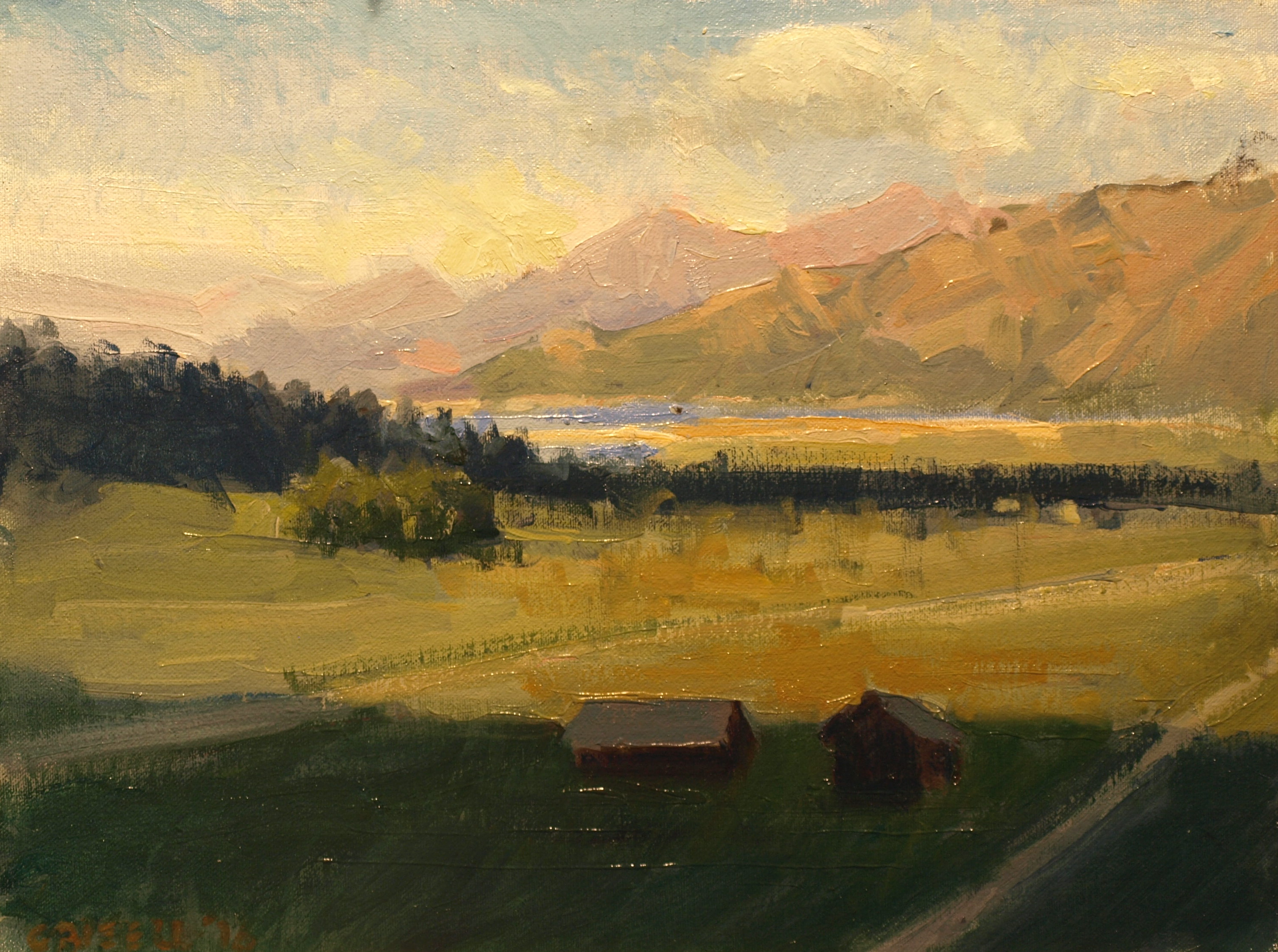 Alpine, Oil on Canvas on Panel, 12 x 16 Inches, by Susan Grisell, $275