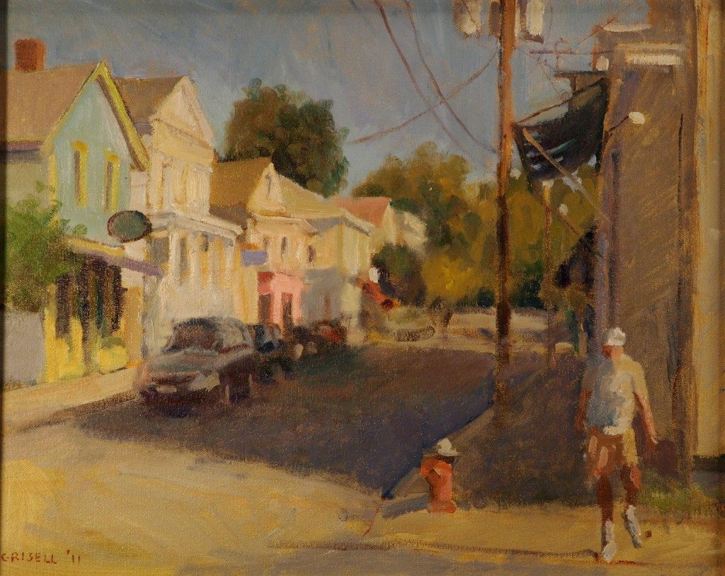 Morning - Water Street, Oil on Canvas, 16 x 20 Inches, by Susan Grisell, $450