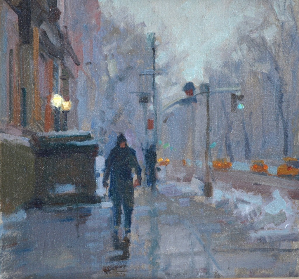 Central Park West, Oil on Canvas on Panel, 12 x 12 Inches, by Susan Grisell, $250