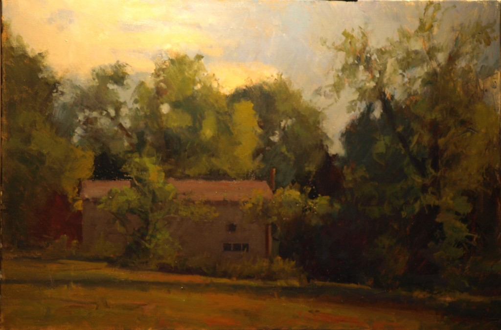 Summer Afternoon, Oil on Canvas, 24 x 36 Inches, by Susan Grisell, $1200