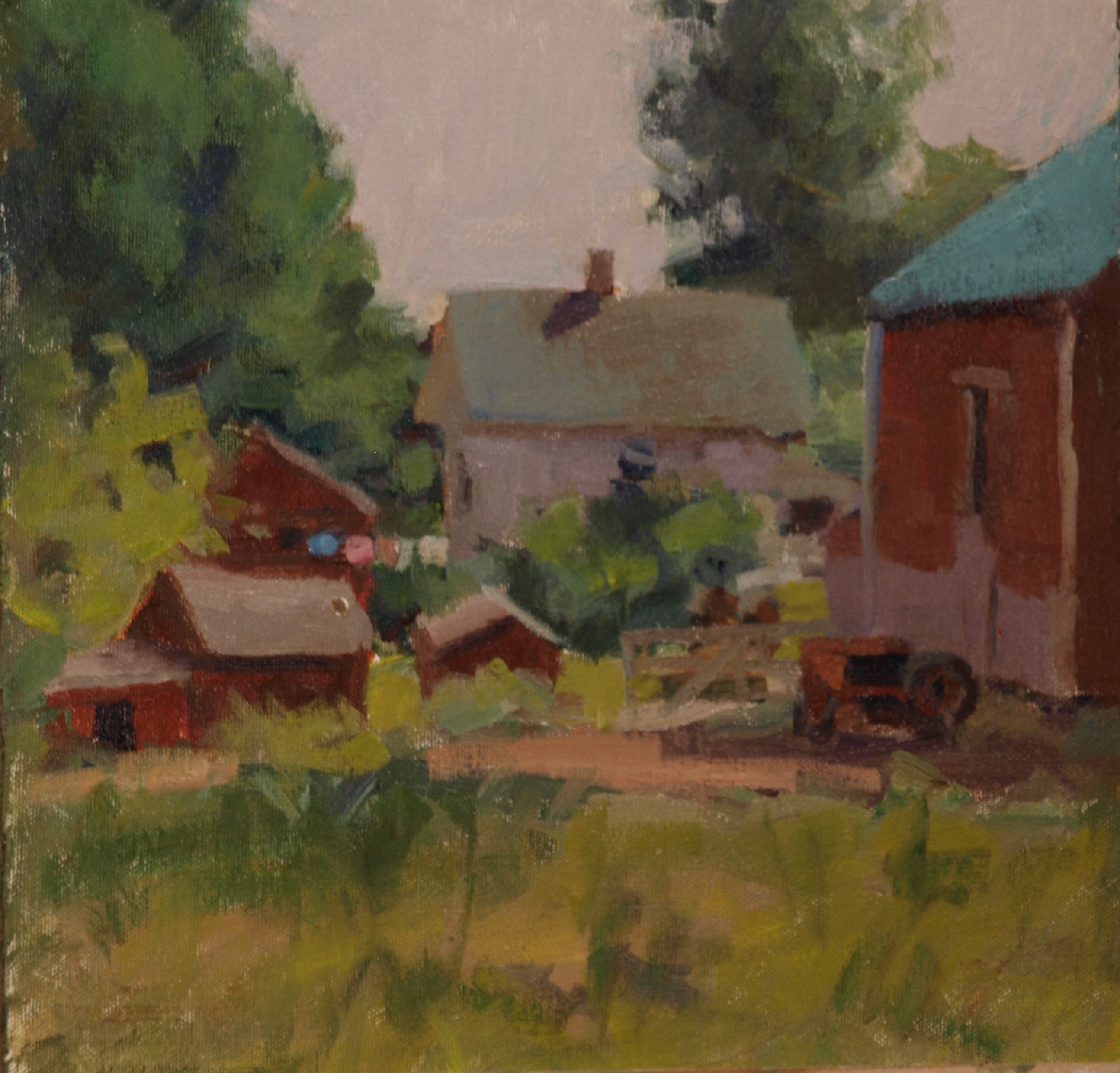Monday, Oil on Canvas on Panel, 12 x 12 Inches, by Susan Grisell, $300