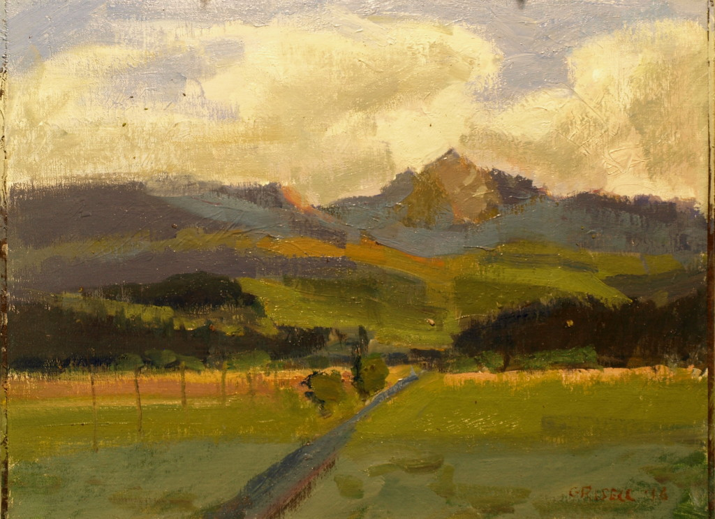 Jackson Peak, Oil on Canvas on Panel, 12 x 16 Inches, by Susan Grisell, $300