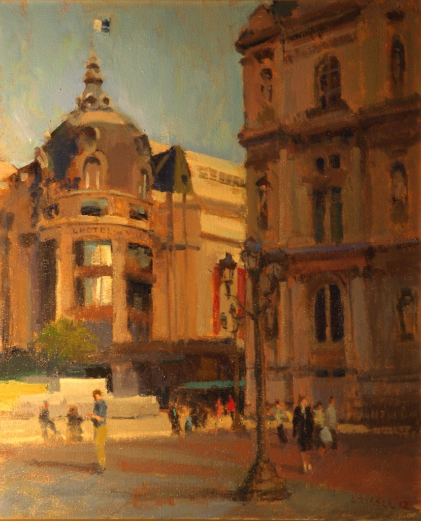 Hotel DeVille, Oil on Canvas, 24 x 20 Inches, by Susan Grisell, $650