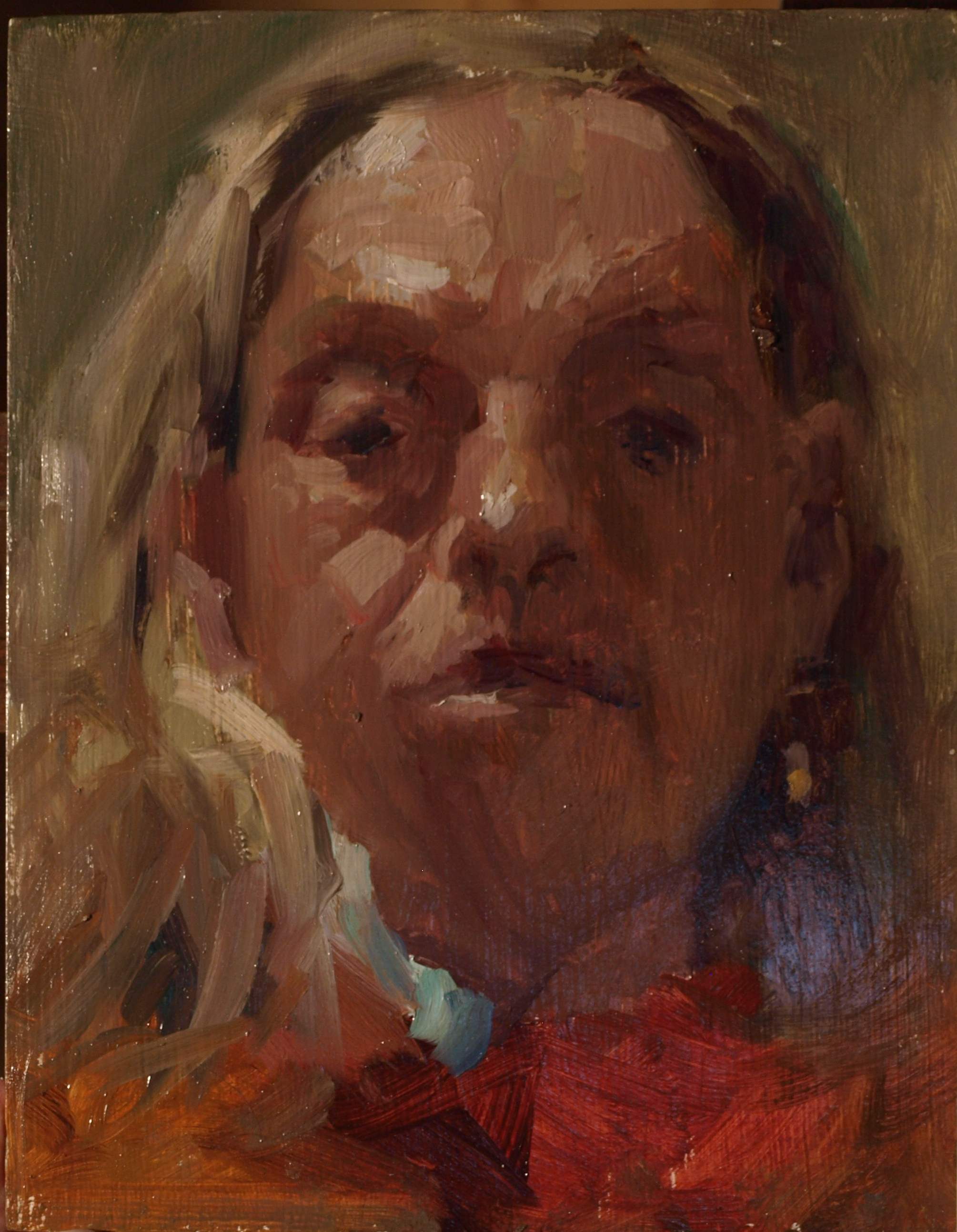 Mirror Study, Oil on Panel, 10 x 8 Inches, by Susan Grisell, $150