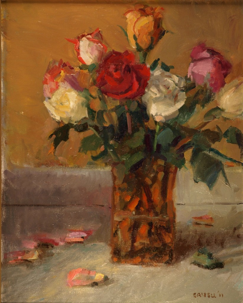 Rose Bouquet, Oil on Canvas, 20 x 16 Inches, by Susan Grisell, $450