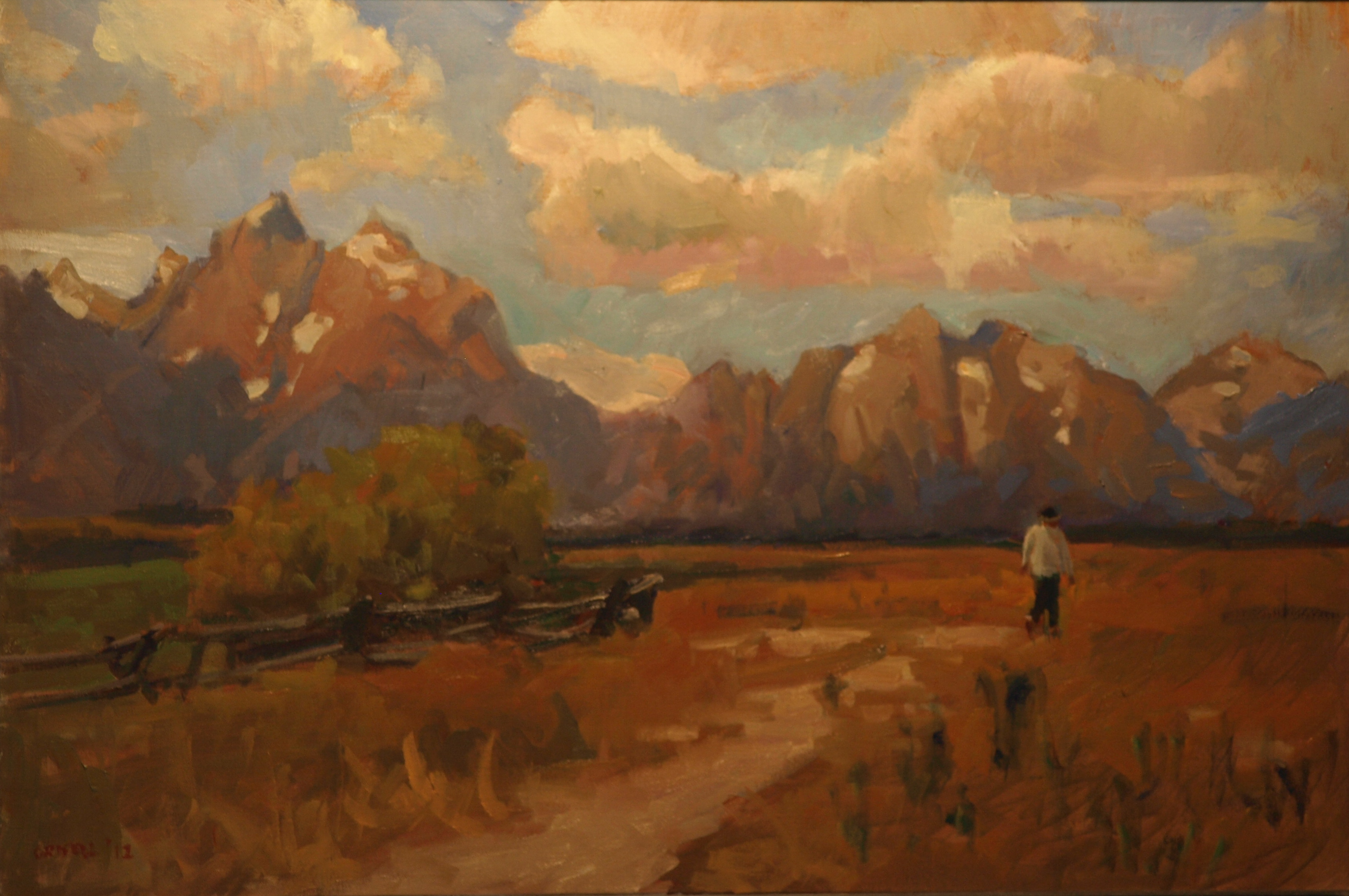 Western Path, Oil on Canvas, 24 x 36 Inches, by Susan Grisell, $1200