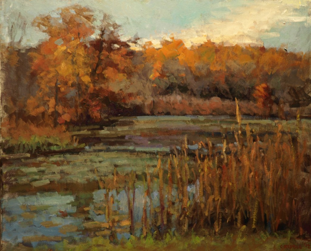 Hatch Pond - Autumn, Oil on Canvas, 20 x 24 Inches, by Susan Grisell, $650