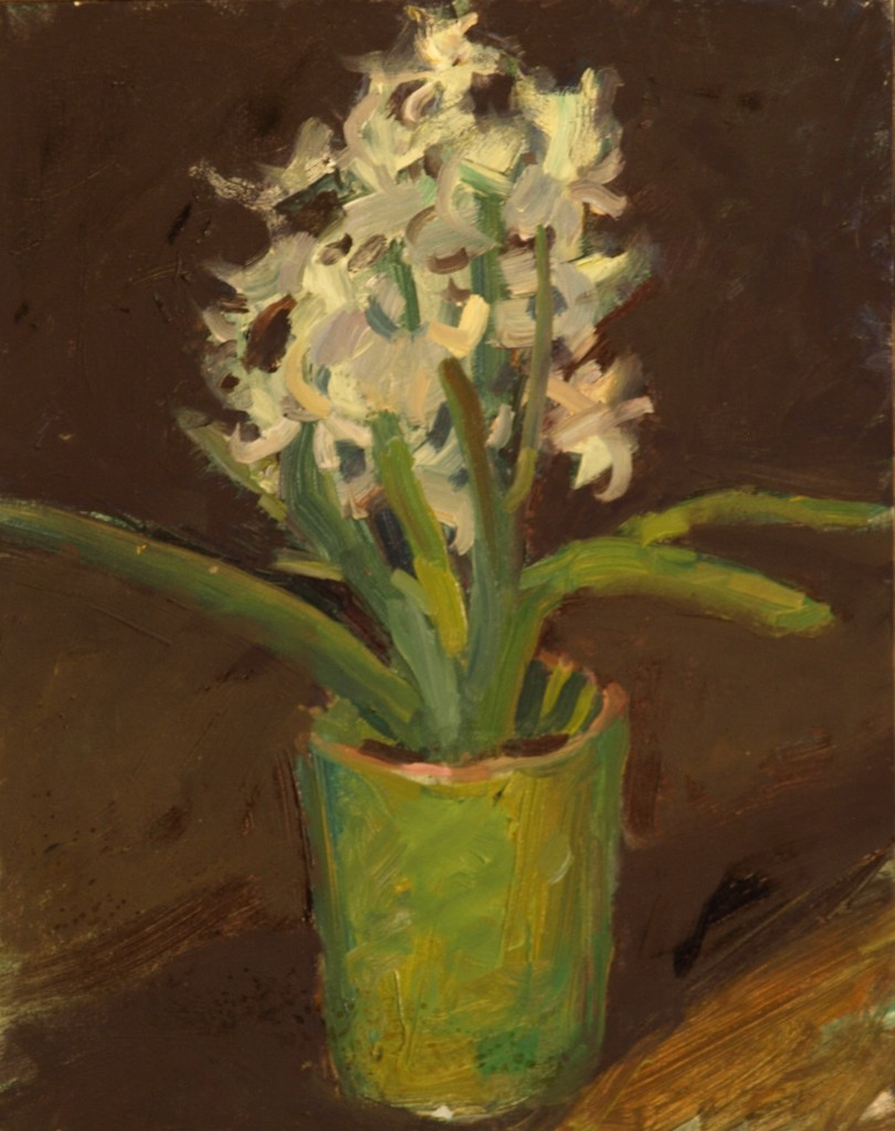 Hyacinth, Oil on Panel, 10 x 8 Inches, by Susan Grisell, $200