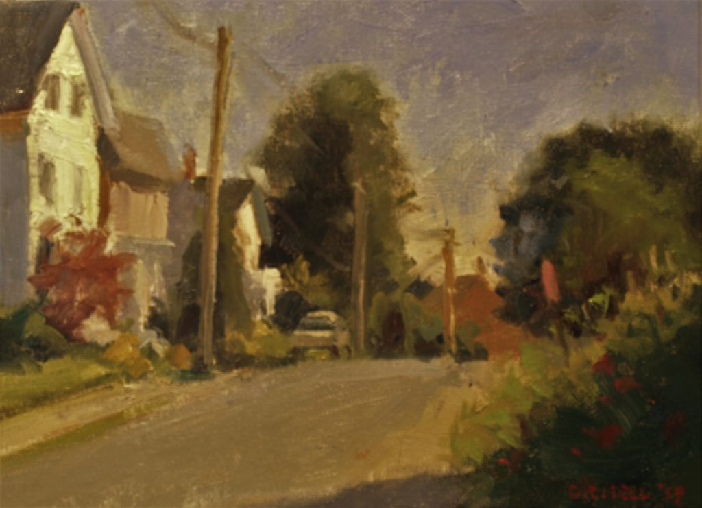 Chester Street in Amesbury, Oil on Canvas on Panel, 12 x 16 Inches, by Susan Grisell, $300