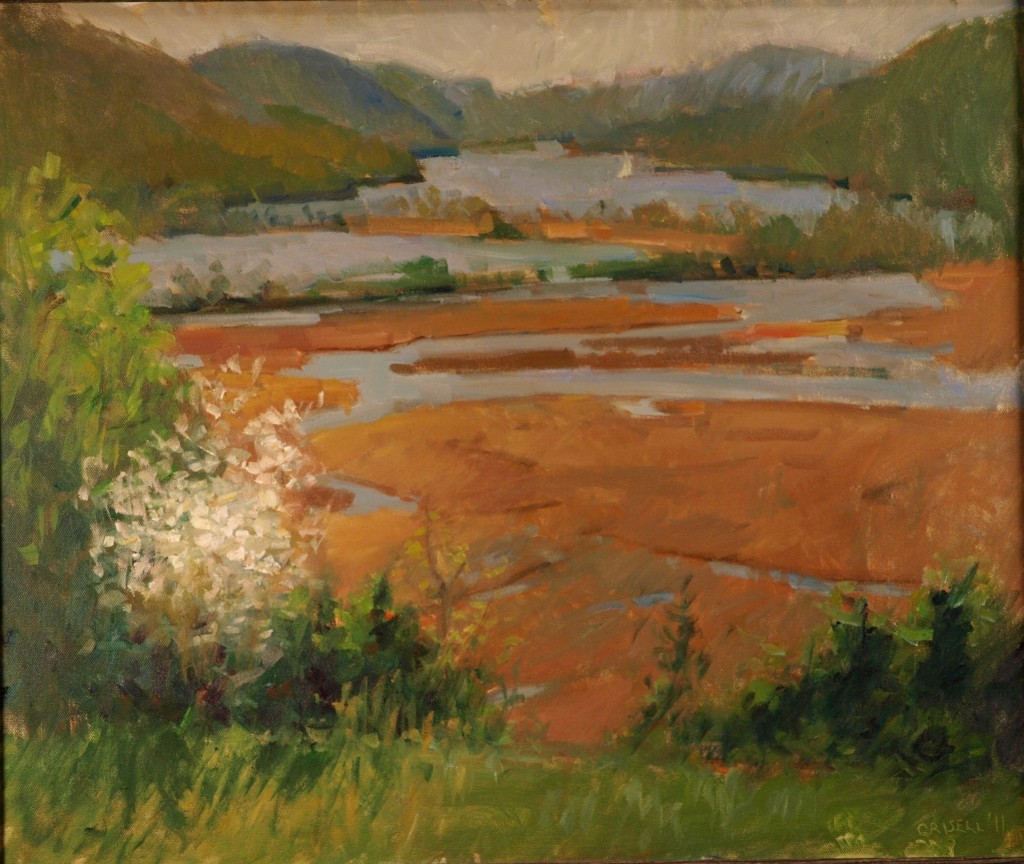 Constitution Marsh, Oil on Canvas, 20 x 24 Inches, by Susan Grisell, $650