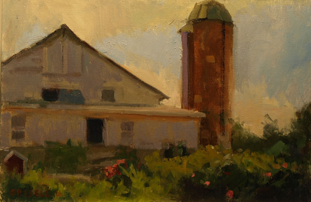 Goudreau's Farm, Oil on Canvas on Panel, 12 x 18 Inches, by Susan Grisell, $300