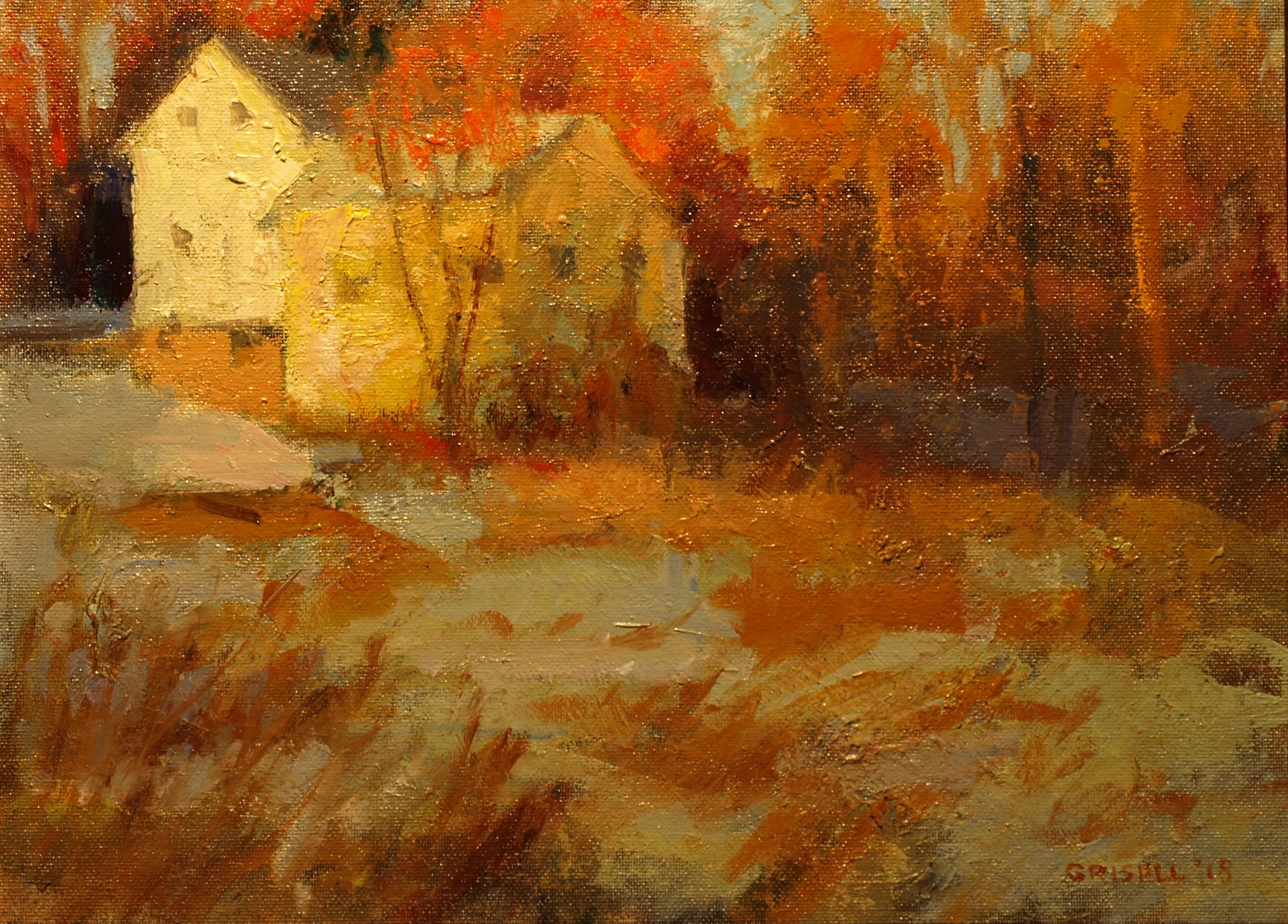 Late Afternoon Light, Oil on Panel, 12 x 16 Inches, by Susan Grisell, $300