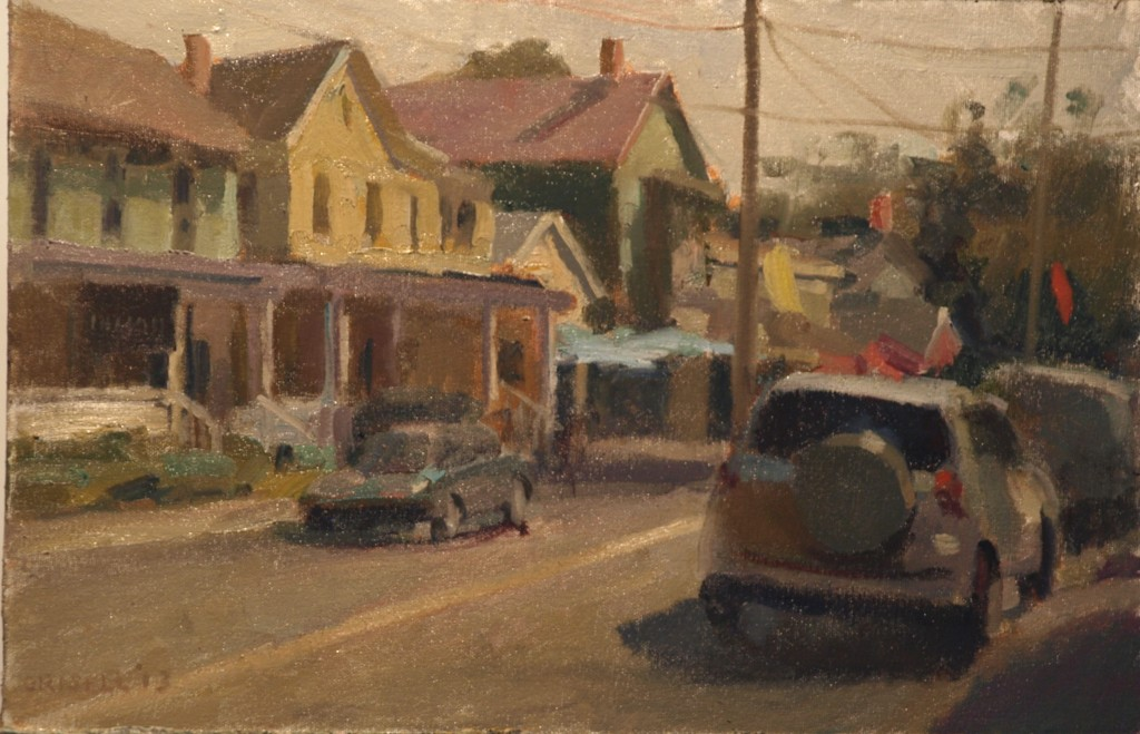 Summer Day - Kent, Oil on Canvas on Panel, 12 x 18 Inches, by Susan Grisell, $275