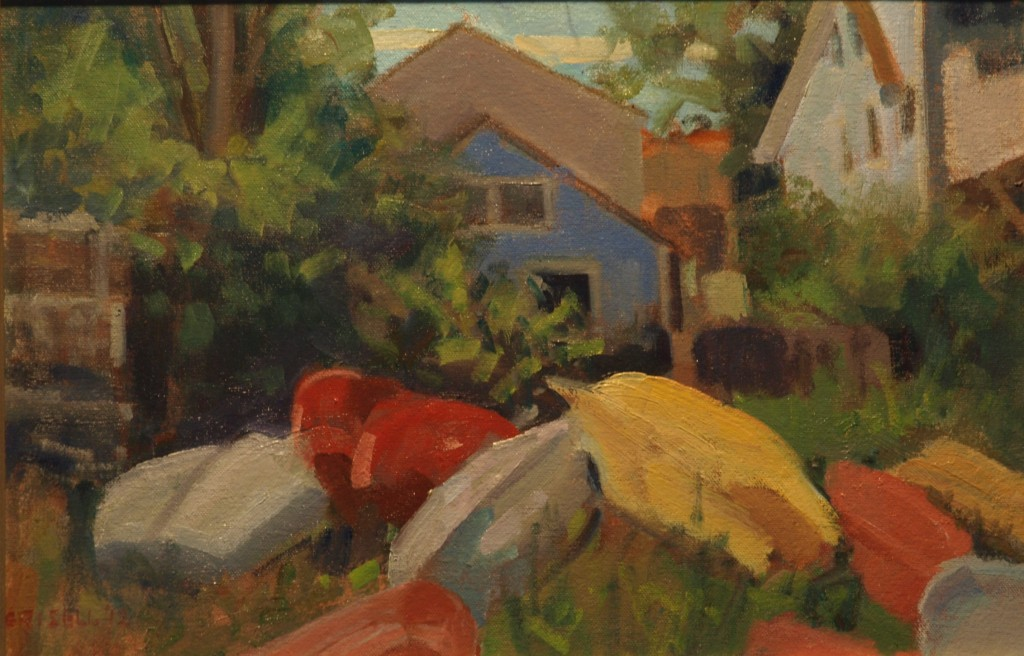 Bright Colors - Provincetown, Oil on Canvas on Panel, 18 x 12 Inches, by Susan Grisell, $275