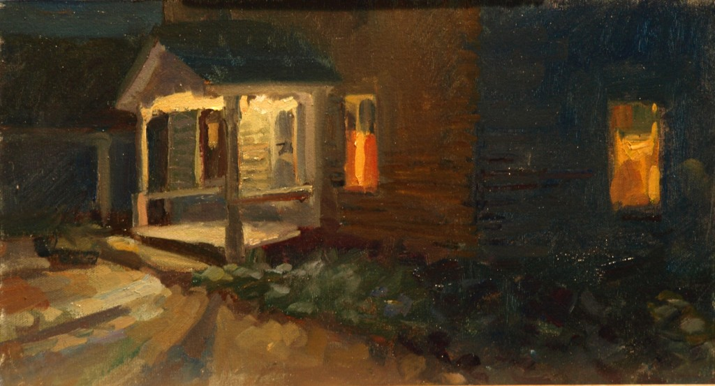North Window, Oil on Canvas on Panel, 9 x 16 Inches, by Susan Grisell, $250
