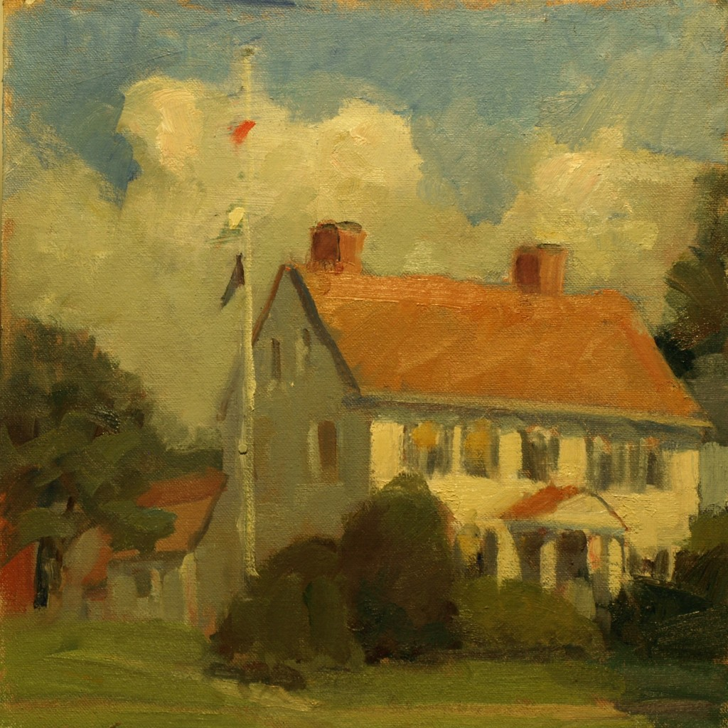 Summer - New Milford, Oil on Canvas on Panel, 12 x 12 Inches, by Susan Grisell, $250