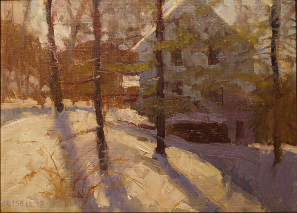 View from the Porch, Oil on Panel, 12 x 16 Inches, by Susan Grisell, $300