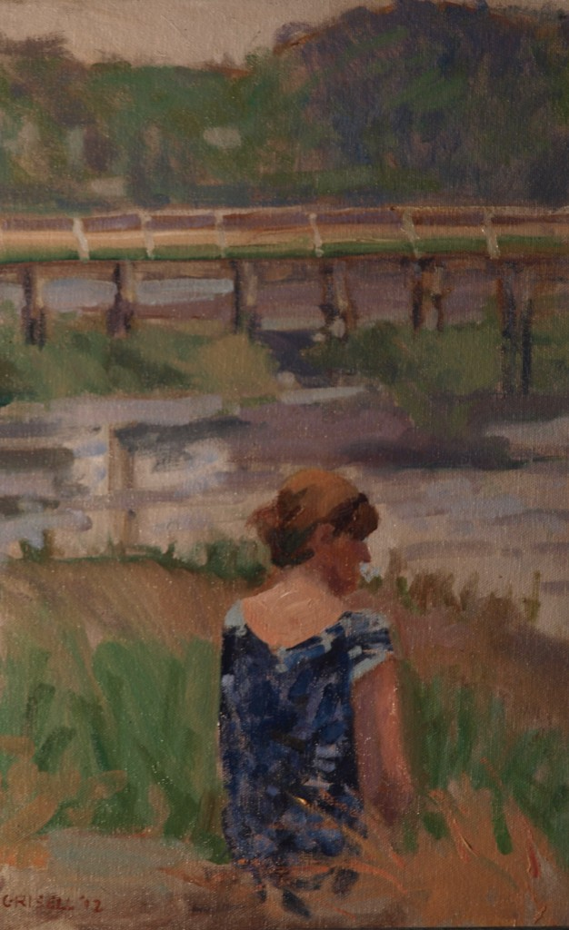 By the Salt Marsh, Oil on Canvas on Panel, 18 x 12 Inches, by Susan Grisell, $275