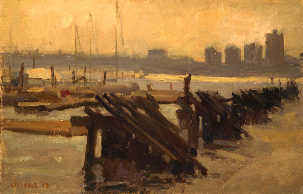 Hudson River, Oil on Canvas on Panel, 12 x 18 Inches, by Susan Grisell, $275