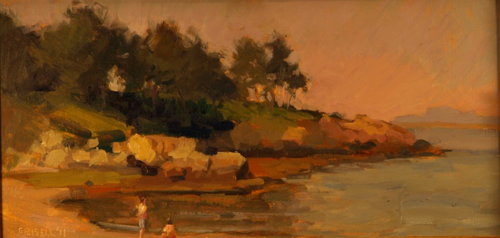 Plum Cove, Oil on Canvas on Panel, 12 x 24 Inches, by Susan Grisell, $450