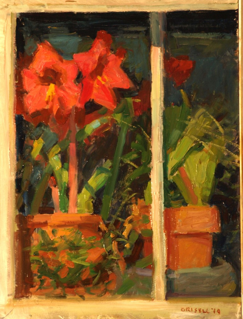 South Window, Oil on Panel, 16 x 12 Inches, by Susan Grisell, $275