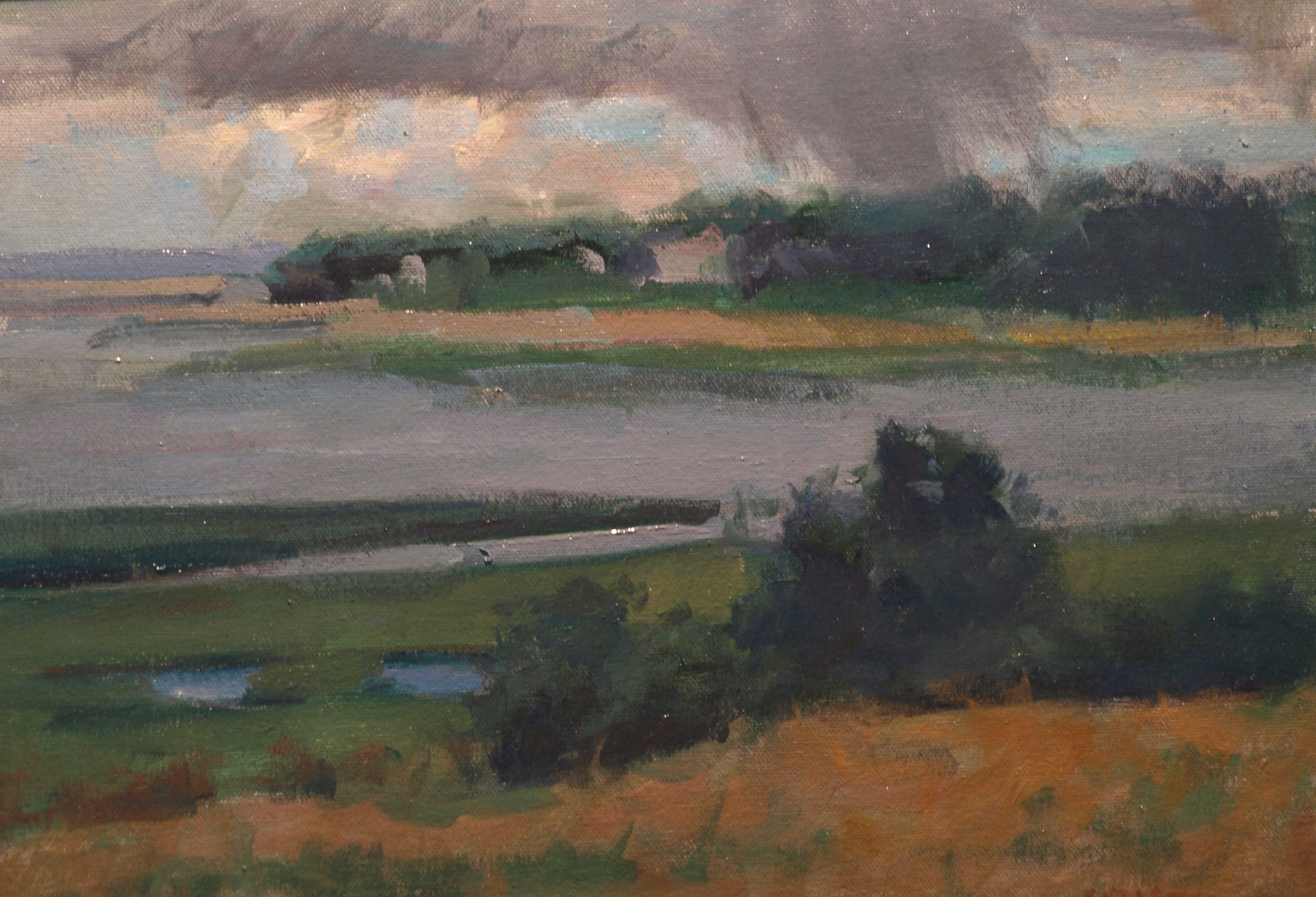 Squall, Oil on Canvas on Panel, 12 x 16 Inches, by Susan Grisell, $275