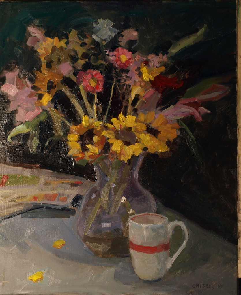 Sunday Morning, Oil on Canvas, 24 x 20 Inches, by Susan Grisell, $750