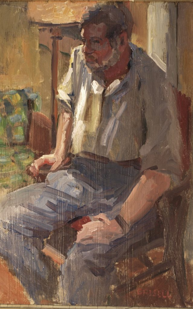 Bill with Beard, Oil on Panel, 18 x 12 Inches, by Susan Grisell, $300