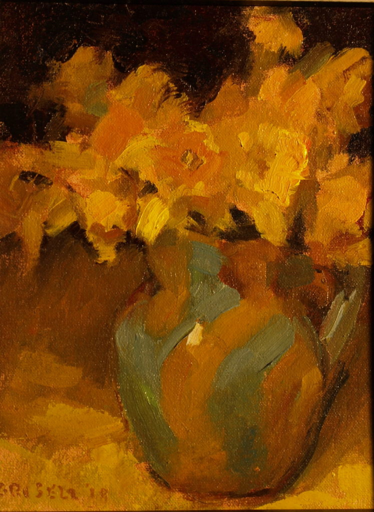 Amy's Pitcher, Oil on Canvas on Panel, 10 x 8 Inches, by Susan Grisell, $200