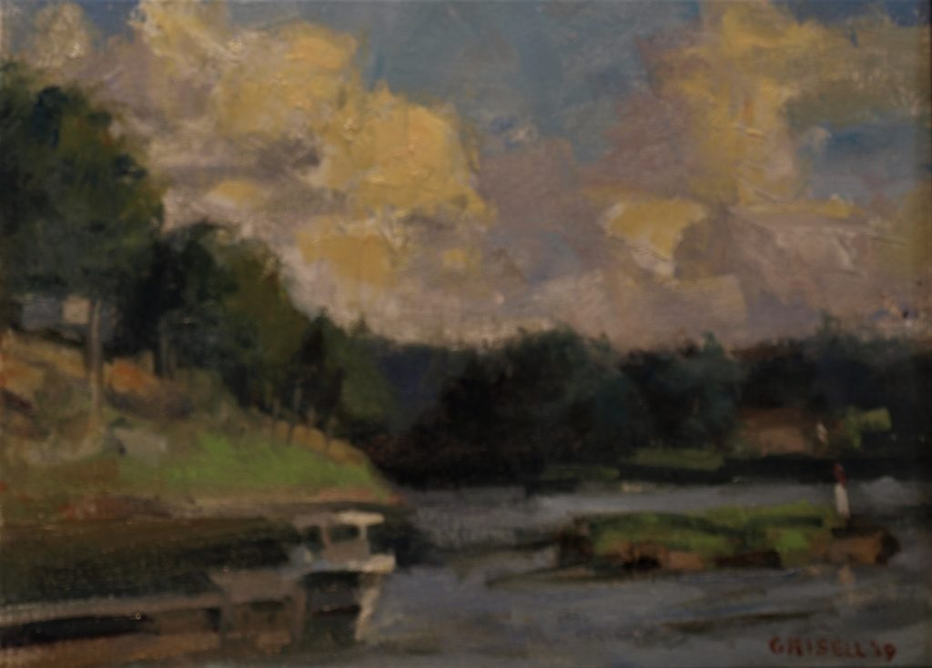 Merrimac River, Oil on Canvas on Panel, 12 x 16 Inches, by Susan Grisell, $300
