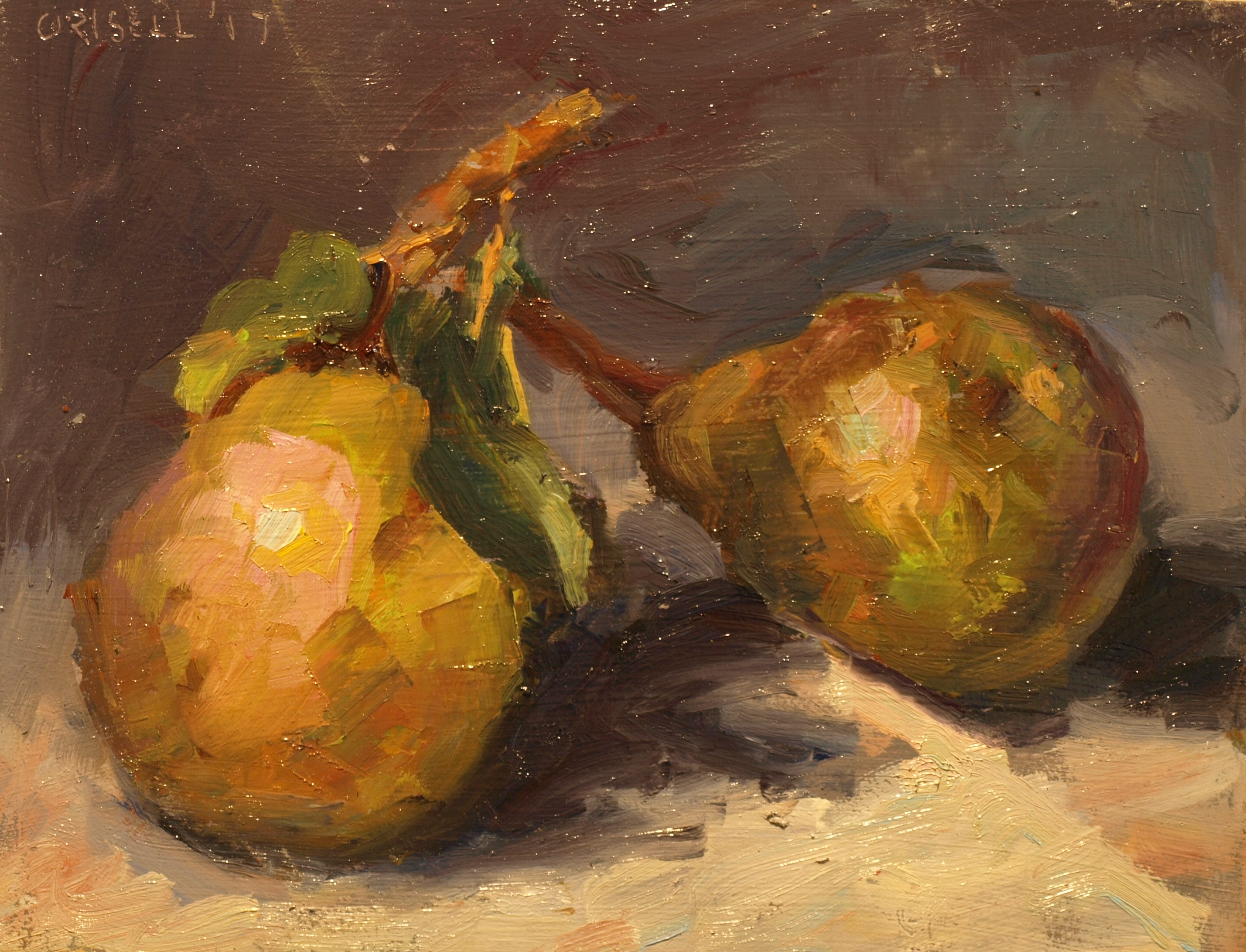 Two Pairs, Oil on Panel, 8 x 10 Inches, by Susan Grisell, $175