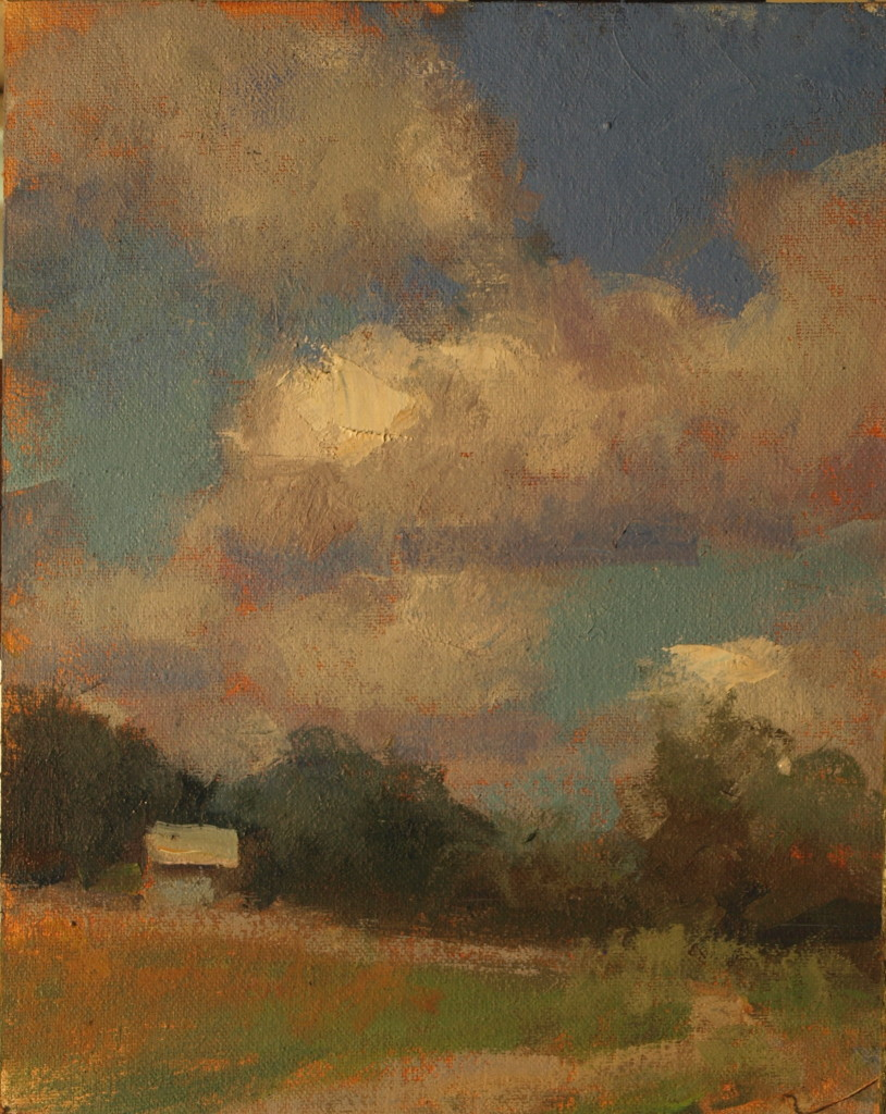 Clouds, Oil on Canvas on Panel, 10 x 8 Inches, by Susan Grisell, $150