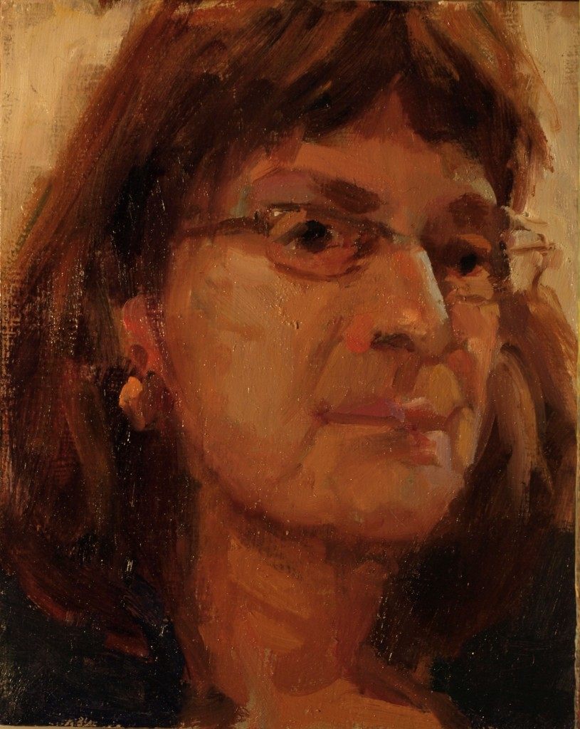 Michelle, Oil on Panel, 10 x 8 Inches, by Susan Grisell, $150