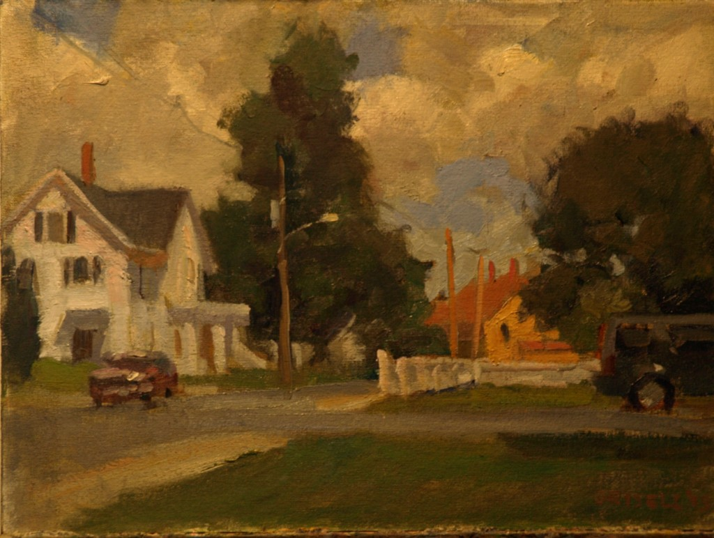 Street - Amesbury, Oil on Canvas on Panel, 12 x 16 Inches, by Susan Grisell, $275