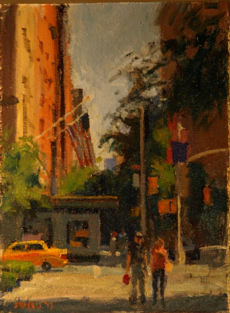 Corner 9th and 5th, Oil on Canvas on Panel, 16 x 12 Inches, by Susan Grisell, $275