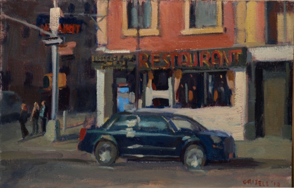 Waverly and Sixth, Oil on Canvas on Panel, 12 x 18 Inches, by Susan Grisell, $275