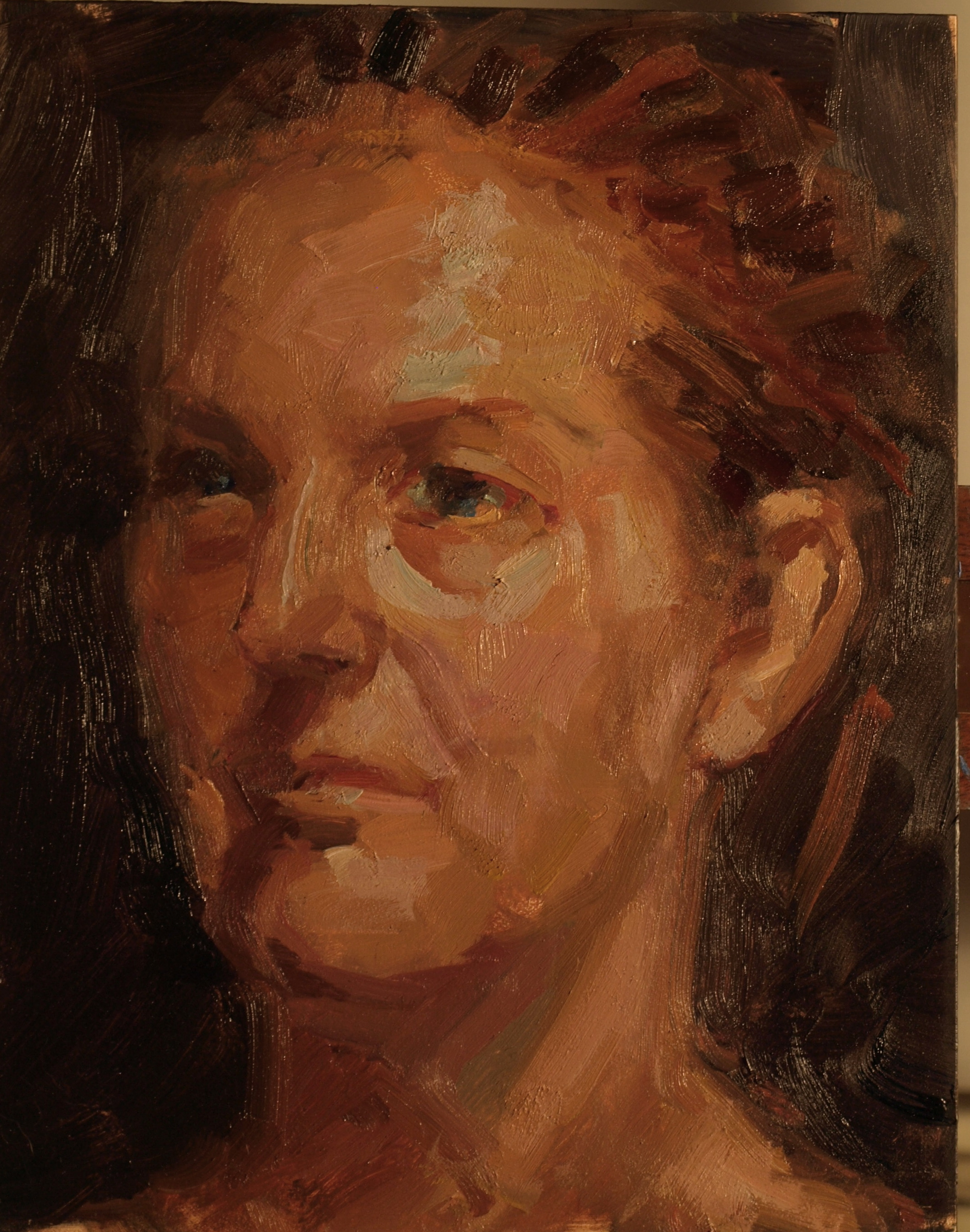 Head Study - Martine, Oil on Canvas on Panel, 10 x 8 Inches, by Susan Grisell, $150