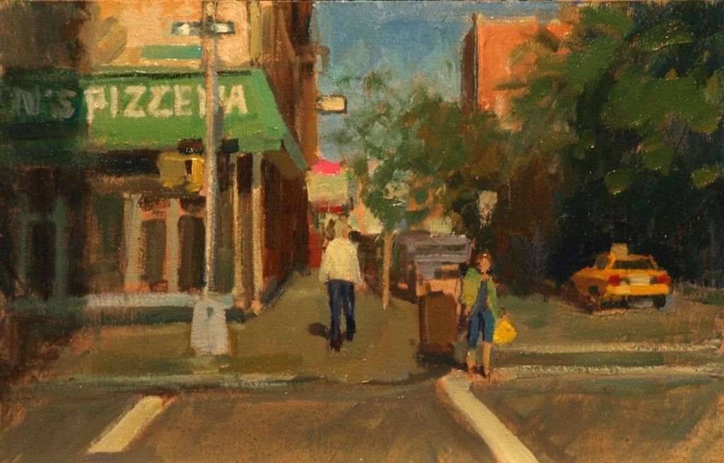 Pizzeria, Oil on Canvas on Panel, 12 x 18 Inches, by Susan Grisell, $275