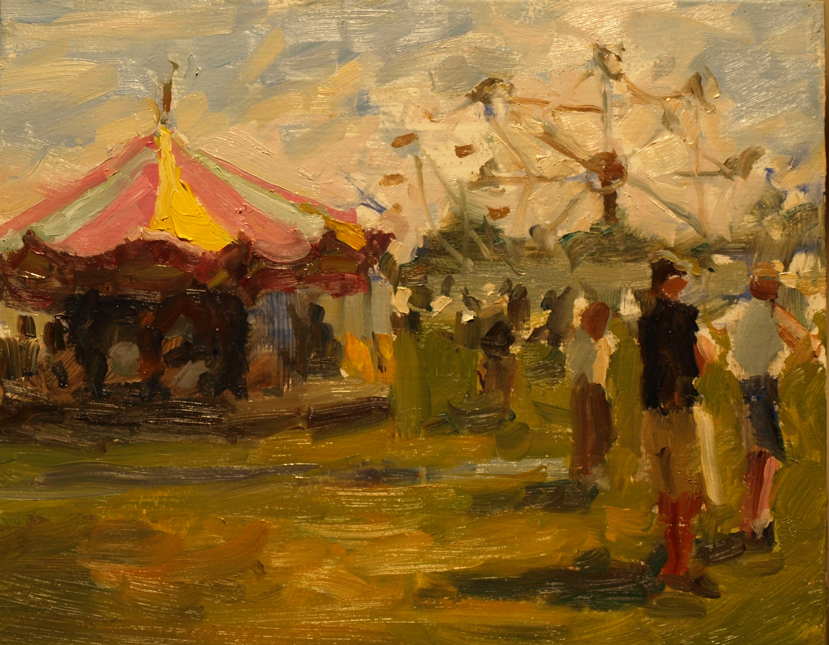 Country Fair, Oil on Panel, 8 x 10 Inches, by Susan Grisell, $200