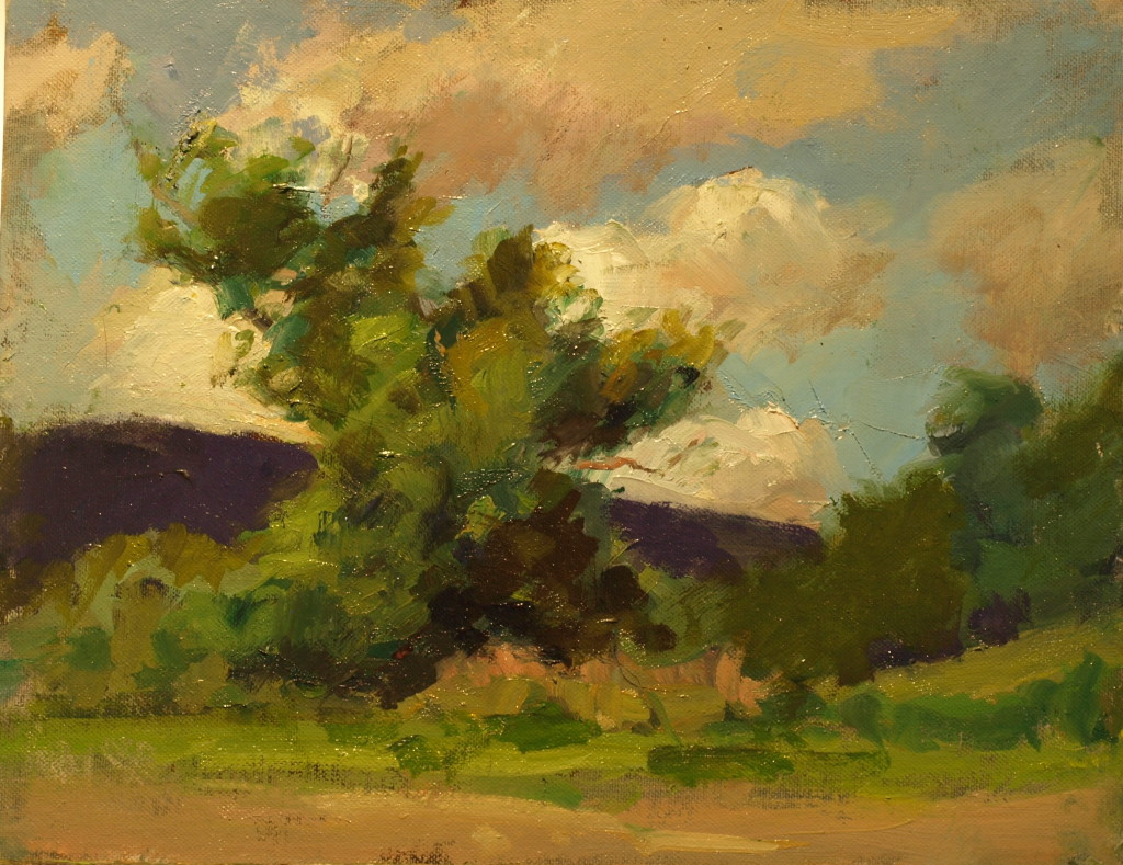 Sun and Shadow, Oil on Panel, 11 x 14 Inches, by Susan Grisell, $275