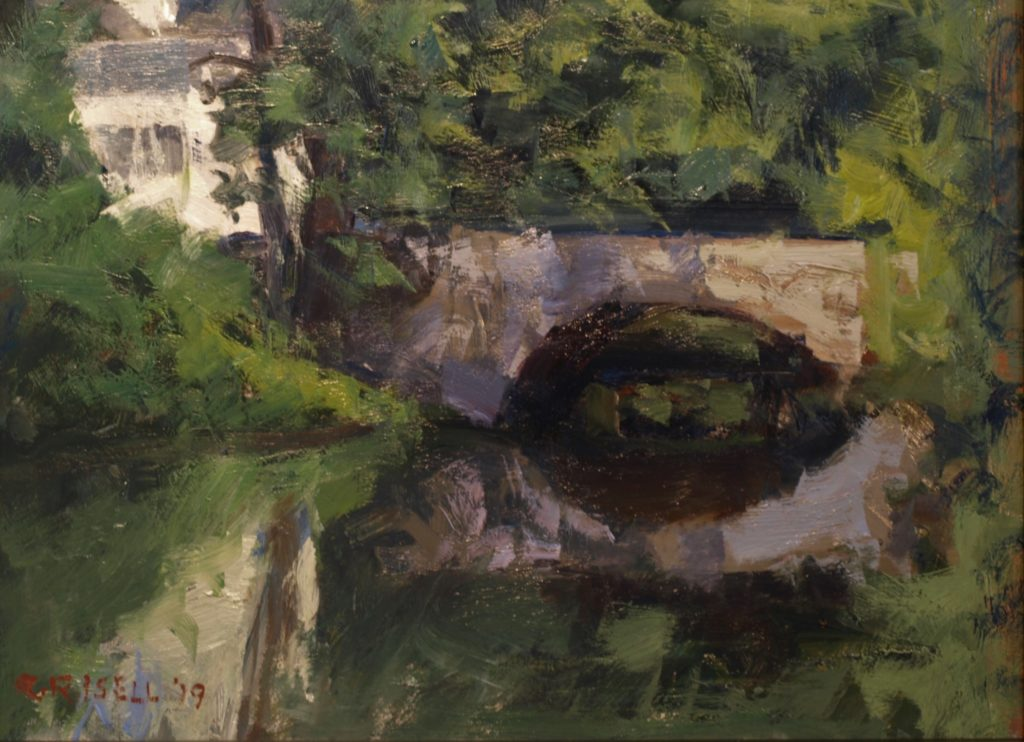 Bridge in Amesbury, Oil on Panel, 12 x 16 Inches, by Susan Grisell, $300
