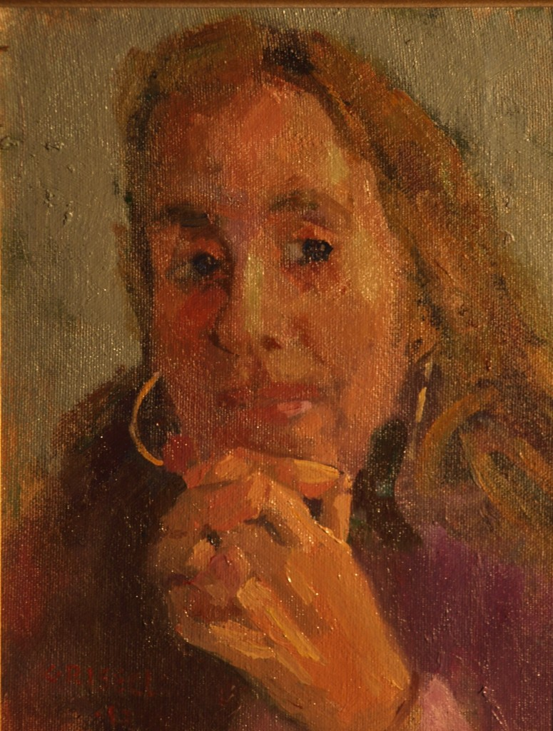 Robin, Oil on Canvas on Panel, 10 x 8 Inches, by Susan Grisell, $150