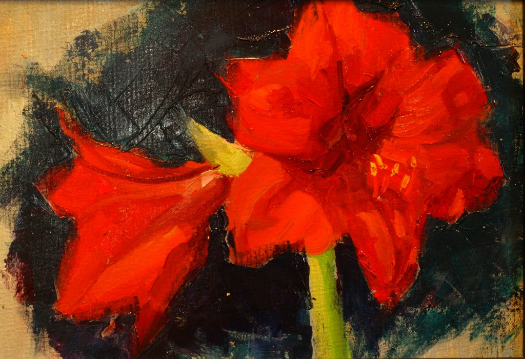 Vignette, Oil on Canvas on Panel, 8 x 14 Inches, by Susan Grisell, $250