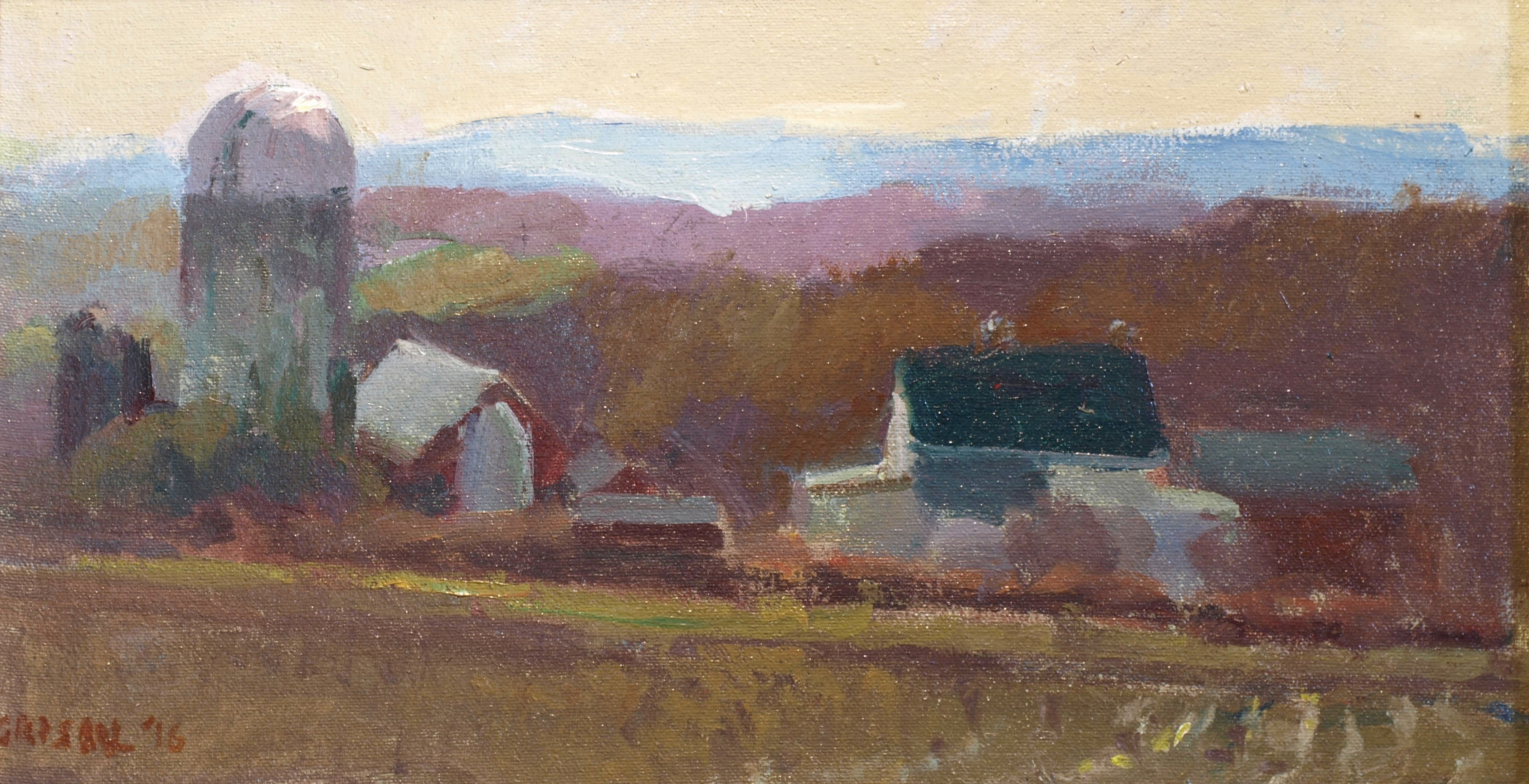 Mild Winter Day, Oil on Canvas on Panel, 9 x 16 Inches, by Susan Grisell, $275