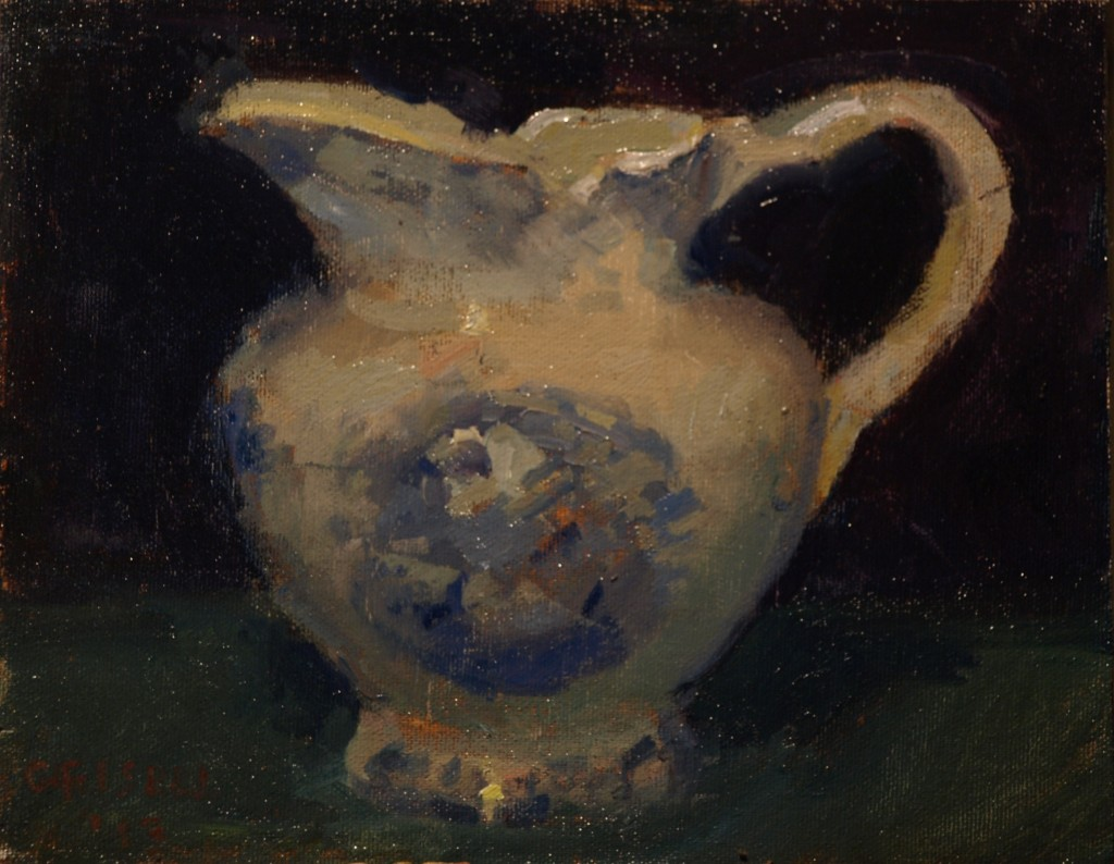 Pitcher, Oil on Canvas on Panel, 8 x 10 Inches, by Susan Grisell, $150