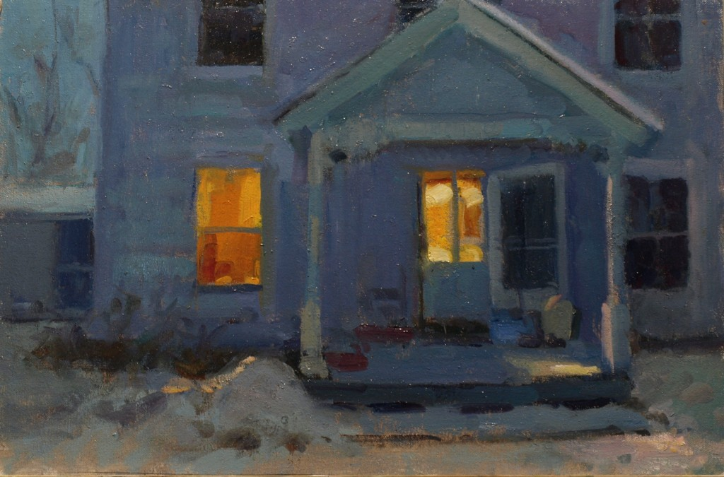 Welcoming Light, Oil on Canvas on Panel, 12 x 18 Inches, by Susan Grisell, $350